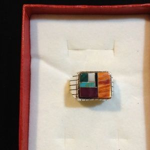 Sterling Silver Multi Stone Ring